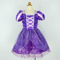 Wholesale Rapunzel Dress elbise kids infant party dress girls costume child vestidos infantis de festa meninas fantasia de princesa
