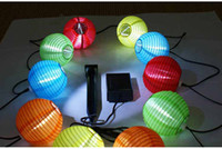 Wholesale Outdoor Solar Powered Mini Colorful Lantern String Lighting Garden Christmas Decoration Lamp M long