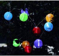Garden mini solar light garden - 4M long Solar Powered Lantern led String Mini Colorful Lantern String Lighting Garden Christmas Decoration Outdoor Solar Lamp