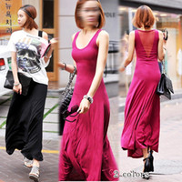 Casual Dresses Strapless A Line 2013 summer women's racerback r7228 sexy slim sleeveless beach jumpsuit dress full dress