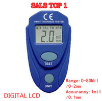 Wholesale NEW PRODUCT Digital LCD Coating Thickness Gauge Car Painting Thickness Tester Paint Thickness Meter DIY Instrument mil MM