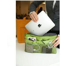 Wholesale For ipad air Organizer handbags Travel Cosmetic Storage Organizer Nylon Jewelry Organizer Bag in Bag