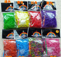 Wholesale 500bags rainbow loom band loom Kit rubber bracelets new Halloween bracelet DIY children gifts free