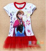 TuTu Summer TUTU Factory directly stockings EMS FEDEX discount summer dress 2014 baby girls dresses frozen Princess Gauze Anna Elsa kid apparel 14MAY54