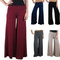 Leggings Skinny,Slim Women 2014 New Live Women's Palazzo Pants, Vintage Womens Career Slim High Waist Flare Wide Leg Long Pants Palazzo Trousers 13628