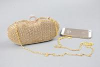 Clutch rhinestone purses - Cheap In Stock Gold Shiny Rhinestone Wedding Clutch Purse Handbags Evening Bags EB1