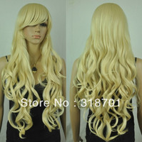 Brazilian Hair Blonde Wig,Half Wig Long Wavy Heat-resistant Fashion Blonde Costume Party Wig Free Shipping