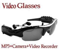 Wholesale Sun Glasses Hidden Camera Video Recorder With MP3 Player TF Card Slot Mini DV DVR CCTV Camera hot spy sunglasses camera with mps