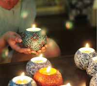 Wholesale omantic handmade ceramics candle holder Wedding Wedding Centerpieces candle holder smoked incense container