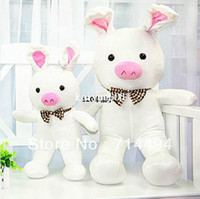 Teddy Bear White Plush 110cm high quality Happy pig plush toys Pig doll Holiday gift Pig rabbit Free shipping.
