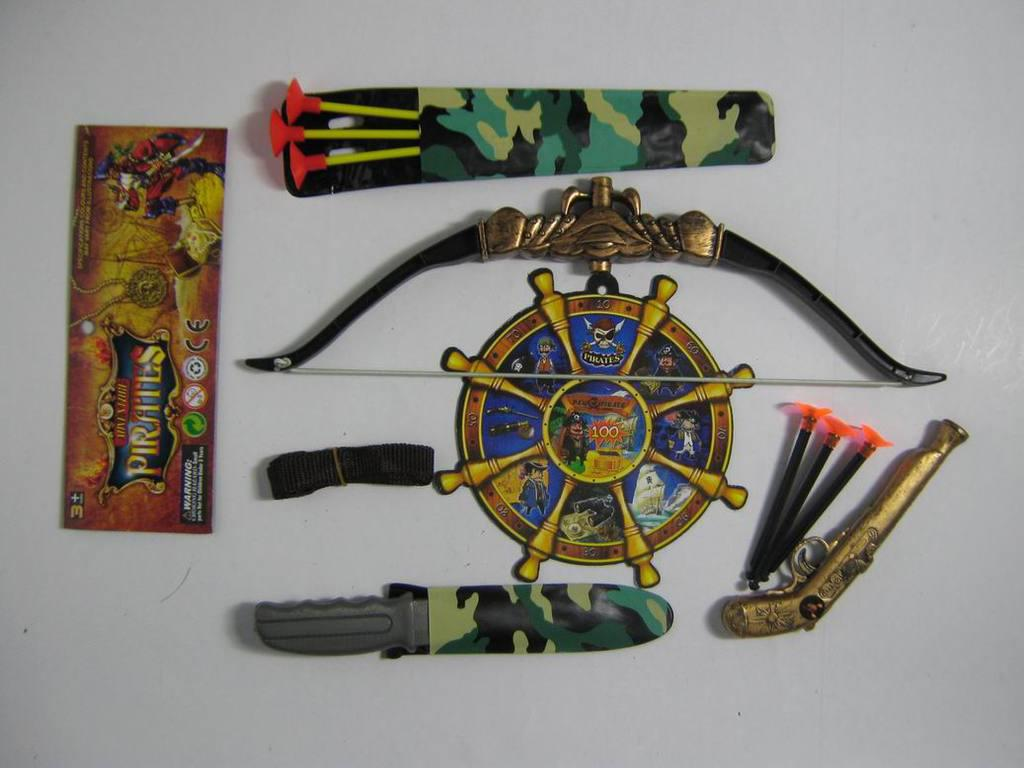 Toy Swords And Guns : Small plastic toy weapons pirate sword gun bow and