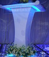 Podium acrylic podiums - Celebration ceremony etiquette instructor station white acrylic wedding props wedding presided over Taiwan Podium