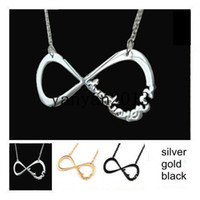 Alloy belieber necklace - One Direction Necklaces Directioner Pendant Necklaces UK Infinity Pendant Justin Bieber Necklaces Belieber Fans Necklace JB Fashion Jewelry