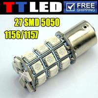 Wholesale 4 X SMD LED S25 BA15S BAY15D P21W Car Turn Signal Brake Backup led bulb V white yellow TF05