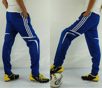 Wholesale And Retail Football Soccer Training Leg Ride Sports Pants Trousers With Zippers Sweatpants For Men