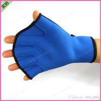 Wholesale Swimming Hands Neoprene Glove Hand Web Swimming Equipment Duck Palm Web Paddles Diving Hand Web Diving Gloves Men And Women