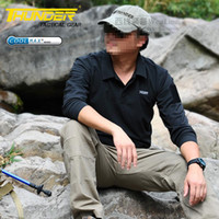 Wholesale Outdoor Tactical Long sleeve T shirts Swat Polo Coolmax Material Quick drying Light Camping Hiking Sports T shirt