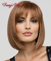 Brazilian Hair Ombre Color Synthetic Hair Free shipping Women Short Wigs Heat Resistant Synthetic Bobo Blonde Short Wigs for Party,100% Kanekalon New Style For Lady's.