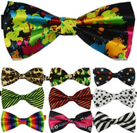Wholesale adult unisexs fashion polyester bow ties mixed colors dropshipping