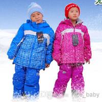 Wholesale Marsnow Child Ski Suit Windproof Warm Skiing Clothing Baby Cotton padded Jacket Winter Ski Jacket Snowboard Jacket By EMS
