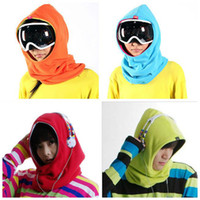 Wholesale Polar Fleece Neck Warmer Snood Multi function Scarf Hat Unisex Thermal Ski Wear cap Snowboarding