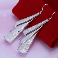 Wholesale 925 silver Plating long design earrings drop earring female luxury earring good gift for girl friend