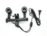 Wholesale Photographic Equipment Photography Light E27 Dual Head Dual Independent Switch M Cable Comes With An Umbrella Holder Hole