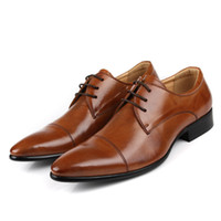 Wholesale Size In Color New Fashion Genuine Leather Formal Brand Man Italian Oxford Sneakers Men s Dress Shoes GL913