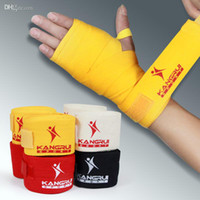 Wholesale Cotton Boxing bandages Hand Wrist Supporter Fist Pad Glove Muay Thai straps kongfu Bandages Length Meters cm width