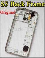 Wholesale Galaxy S5 Original Back Middle Frame Bezel Chassis Housing Cover Plate For Samsung Galaxy S5 SV i9600