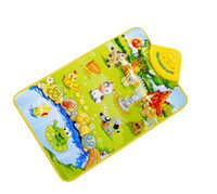 Wholesale Baby toy electronic toys Multicolor Animal Farm musical carpet Music Touch Blanket play singing gym mats child mat toy