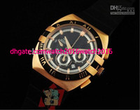 Limited Edition auto sellers - Factory Seller Luxury New In Box AAA Quality Double Eagle Chrono Chronograph Date Rose Gold Mens Watch Rubber Band Men s Sport Wrist Watches