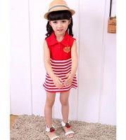 Wholesale Han edition children s wear manufacturers children dress summer wear Pure cotton stripe dress
