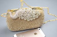 Beaded rhinestone purses - Real Pictures Cheap in Stock Gorgeous Gold Sparkling Rhinestone Crystal Evening Bags Wallet Evening Clutch Purse EB11