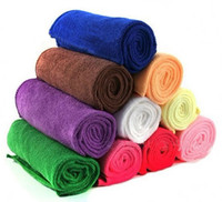 Wholesale cmx30cm Microfiber Car Cleaning Towel Microfibre Detailing Polishing Scrubing Waxing Cloth Hand Towel