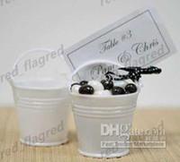 White mini bucket - LLFA453 Elegant white color mini pails wedding favors mini bucket candy boxes favors favor tins