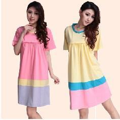 Wholesale New Summer maternity dresses lactation clothes for pregnant women short sleeve pregnancy breastfeeding Rainbow color nursing dress