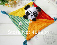 Wholesale Lamaze infant panda towel kid toys with bell