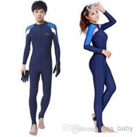 Wholesale 2015 Diving Suit Swimming Full Bodysuit Swimsuit Blueocean Wetsuit Woman And Man Surfing Suit Nylon Spandex