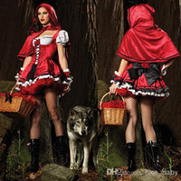 TV & Movie Costumes beauty castle - 2014 New Disney Princess Cosplay Costumes For Women Sexy Witch Cosplay Women Halloween Castle Queen Costumes Little Red Riding Hood
