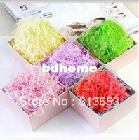 Wholesale new arrival DIY gift decoration Craft material Shred paper Rayon Raffia present Filling Material Filler Raffia