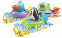Wholesale cute baby bath toys swim Penguin Pelican Dinosaur inspire exploration lovely x mas gift