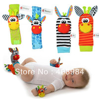 Multicolor bear rattle - New arrival baby rattle baby toys Wrist Rattle Foot Socks