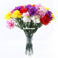Wholesale 10 Artificial Carnation Silk Flowers Bouquet Party Home Graden Decoration Gifts amp Drop Shipping