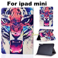 Smart Cover/Screen Cover big eye leather - For iPad Mini Cartoon Animal Series Big Eye Tribe Tiger Eiffel Tower PU Leather Case Cover With Stand Holder For iPad Mini2 iPad Mini