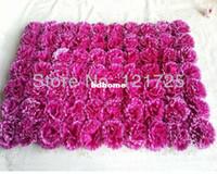 Wholesale Artificial flowers carnation flowers head silk flower wall style parterre flower racks