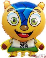 World Cup animal armadillo - Brazil World Cup Armadillo Aluminium Coating Inflatable Ball Walking Balloon Walking Animal Cartoon Party Carvinal Balloon In Stock