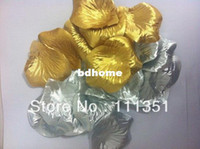 Wholesale 1000 Gold Silver More colors silk rose flower petal petals wedding favors party table decoration