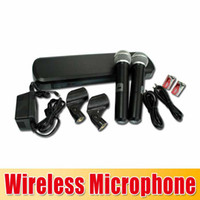 Wholesale high quality Hot PG288 PG58 Professional wireless microphone dual channel wireless system PG288 PG58 hot selling