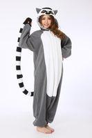 Unisex adult monkey onesie - Novelty Animal Lemur Long Tail Monkey Adult Onesie Unisex Women Men s Kigurumi Pajamas Halloween Christmas Party Costumes